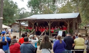 Local elementary school choir singing Christmas songs www.conniemann.com